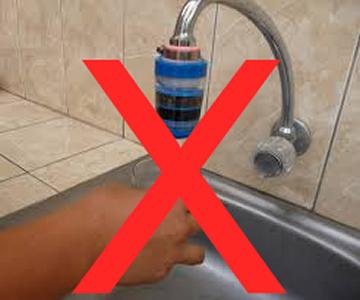 filtro de agua para caño malo