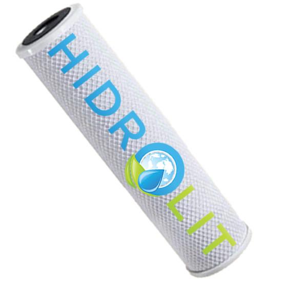 """Filtro Carbón Activado en Bloque 2.5"""" x 10"""" (10 micras) - HIDROLIT"""